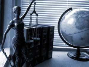 Law Statue and Globe